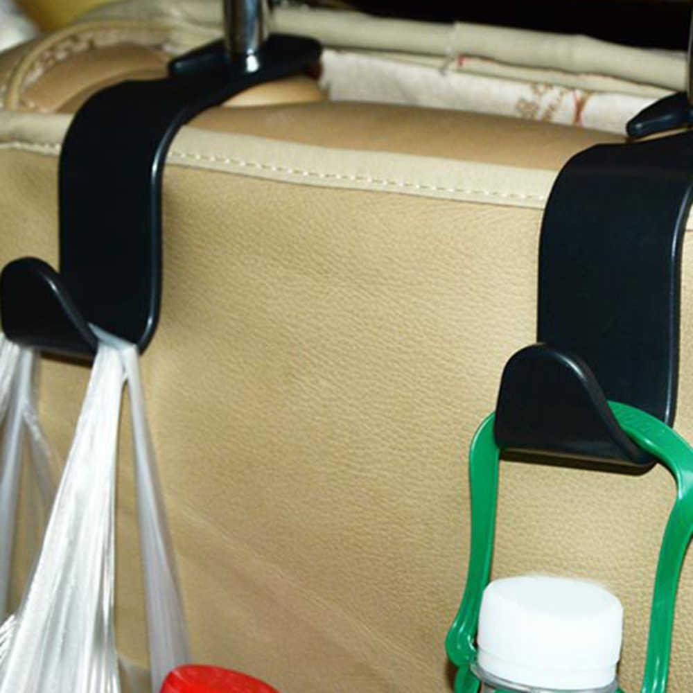 Hight Kwaliteit Universele Auto Hanger Tas Organizer Hook Hoofdsteun Houder Zwart Accessoire