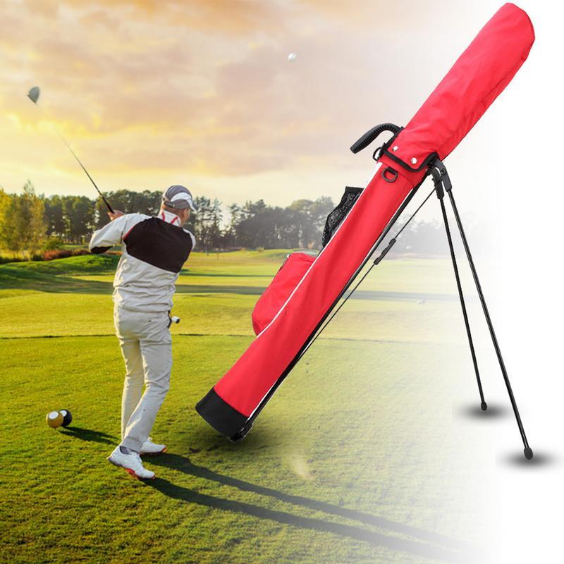 Golf Stand Rack Sac très léger Grande Capacité Noir Rouge Bleu De Golf Report Léger sac en nylon Avec Poche 2019 nouveauté - 3