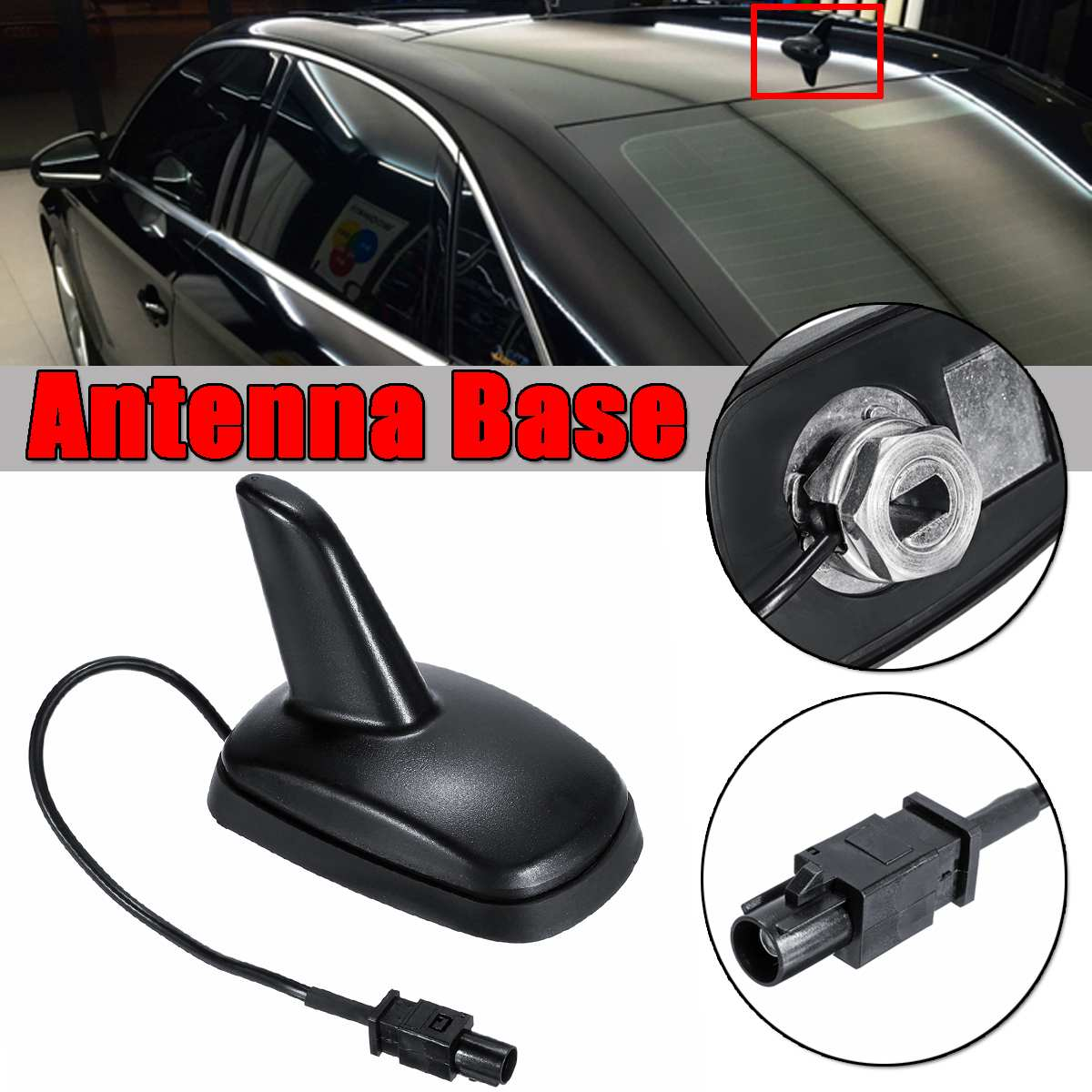 28cm Vauxhall Corsa /& Combo Van Roof Mount Replacement Car Aerial Antenna Black