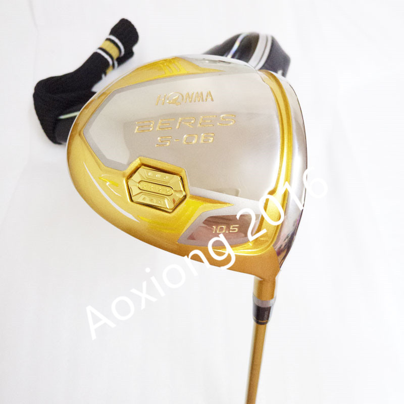 New Mens Golf Driver HONMA S-06 4 Star Driver Clubs 9.5 Or 10.5 Loft Golf Clubs Driver With Graphite Golf Shaft Free Shipping