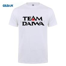 GILDAN New TEAM DAIWA Logo Pro fishingerWinner Mens Black T-Shirt Size S M L XL 2XL T  Brand Clothes Slim Fit Printing