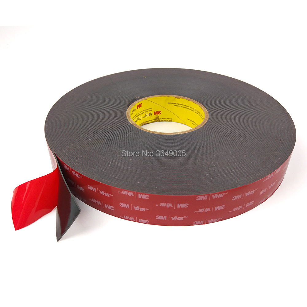 3M VHB 5952 Double Sided Acrylic Foam Adhesive Tape Heavy Duty Mounting Tape Choose Wide 33meter/roll