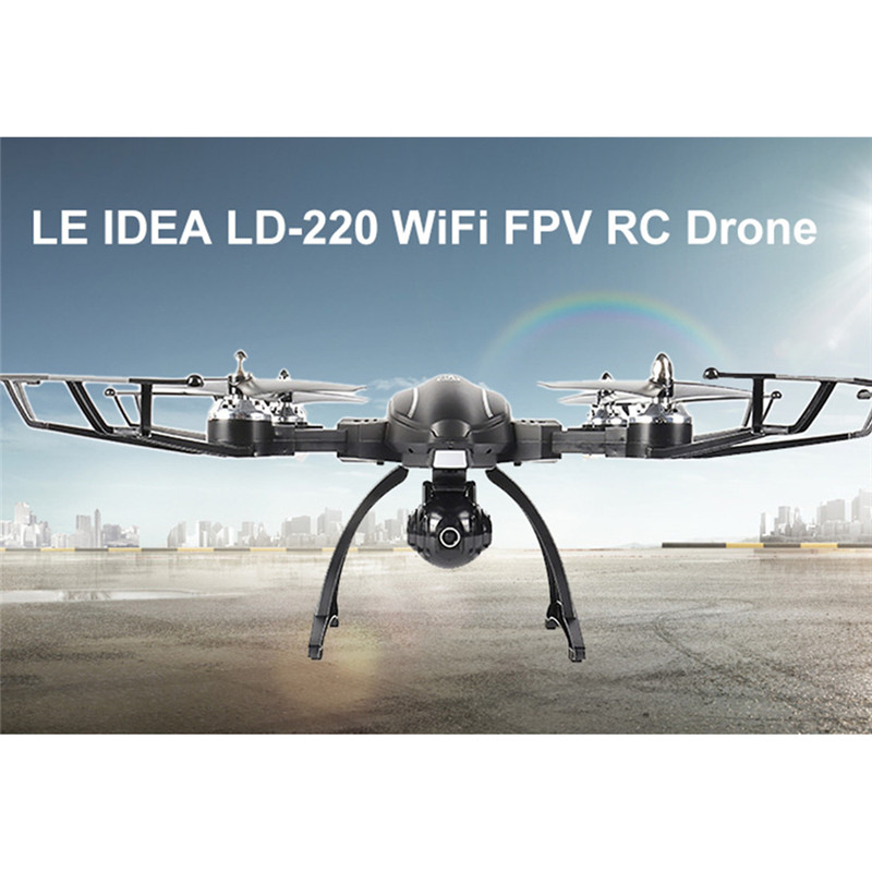 LE IDEA LD-220 Foldable 2MP WiFi FPV RC Drone Helicopter RTF Altitude Hold Headless Stunt Quadcopter 2.4GHz Remote Control ToyLE IDEA LD-220 Foldable 2MP WiFi FPV RC Drone Helicopter RTF Altitude Hold Headless Stunt Quadcopter 2.4GHz Remote Control Toy