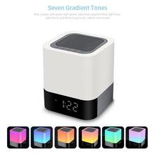 Leegoal Wireless Bluetooth Speaker Mini LED Alarm Clock Bluetooth Speakers Night Light Loudspeaker TF Subwoofer цена и фото