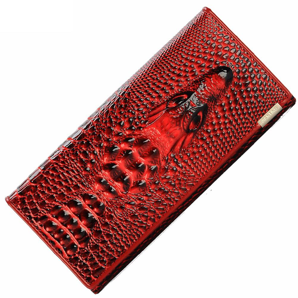 Women Wallet PU Leather Casual Printing Handbag With Hardware Buckle Long Fashion Purse Large Capacity Coin Bag Holders Clutch