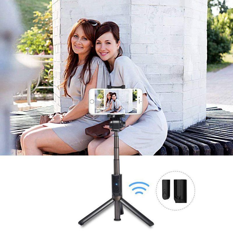 3 in 1 Extendable Selfie Stick Tripod Bluetooth Wireless Mini Rod  Detachable