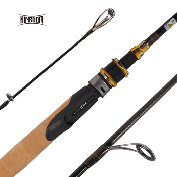 Kingdom KO-II Carbon Fishing Rods Spinning 1.98m 2.13m Travel Rod With FUJI Reel Seat and Guides M ML MH Feeder Rod Fishing