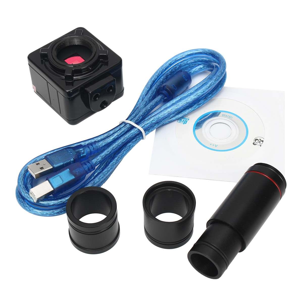 5MP USB C monture Microscope caméra 0.5X oculaire objectif adaptateur Set 23.2 à 30.5mm adaptateur anneau