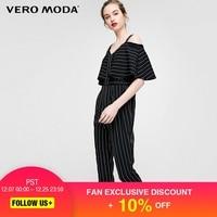 Vero Moda Stripe Layered Shoulder Straps Capri Jumpsuit  317344504