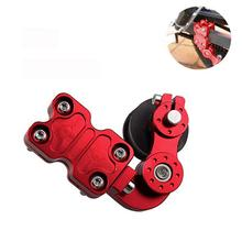 Professional Motorcycle Chain Adjuster Black Red Automatic Regulator Tensioner Aluminum Alloy For Most