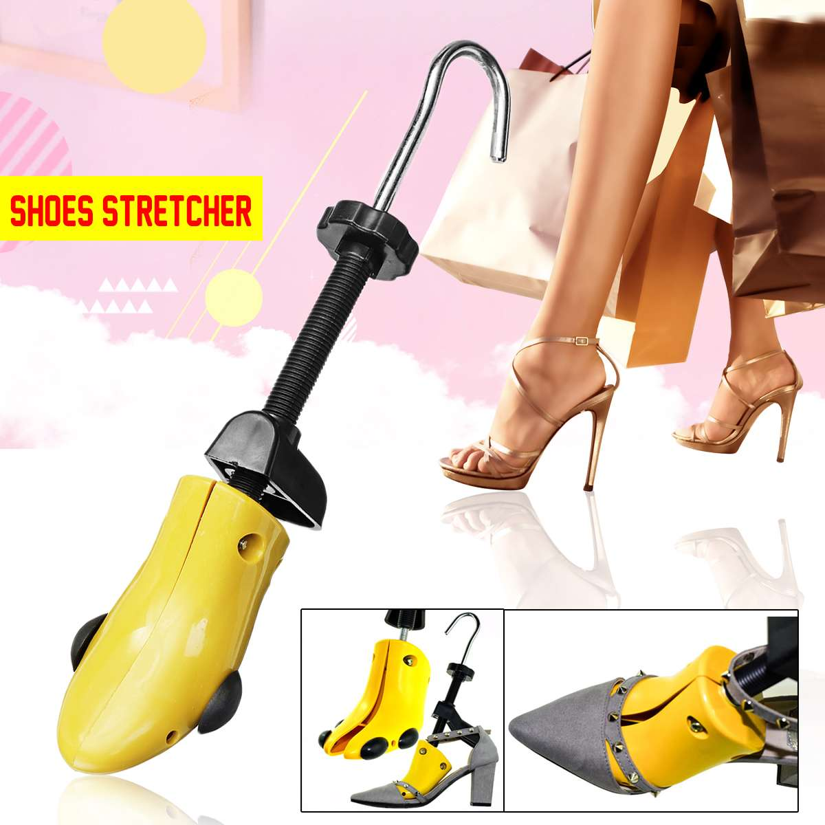 Size S/M/L 28-48 Men Womens 2-Way Adjustable Shoes Stretcher Heels Boots Trees Shaper Expander Unisex Plastic Maintain Shape