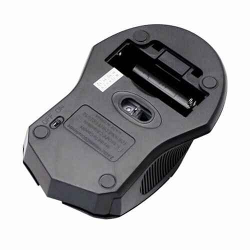 Беспроводная USB оптическая мышь 2000 dpi тонкая 2,4G беспроводная Wi-Fi 10 m Рабочая дистанция мыши мышь для ПК настольного ноутбука черный США