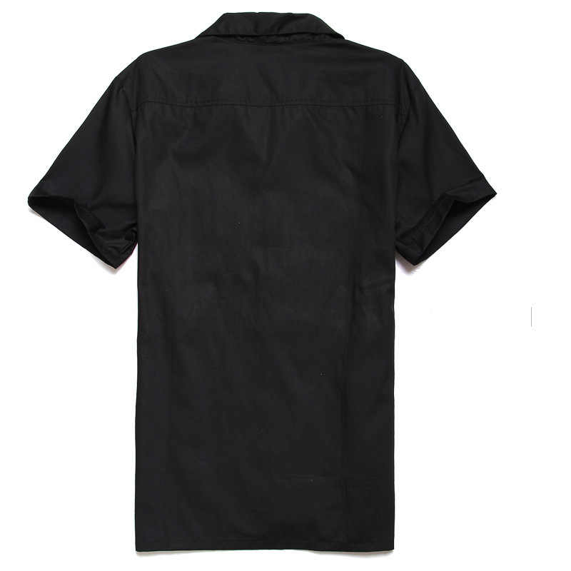 Бренд плед рубашки для мужчин блузка лоскутное короткий рукав повседневные рубашки на пуговицах Camiseta Ретро Hombre Боулинг платье мужские рубашки