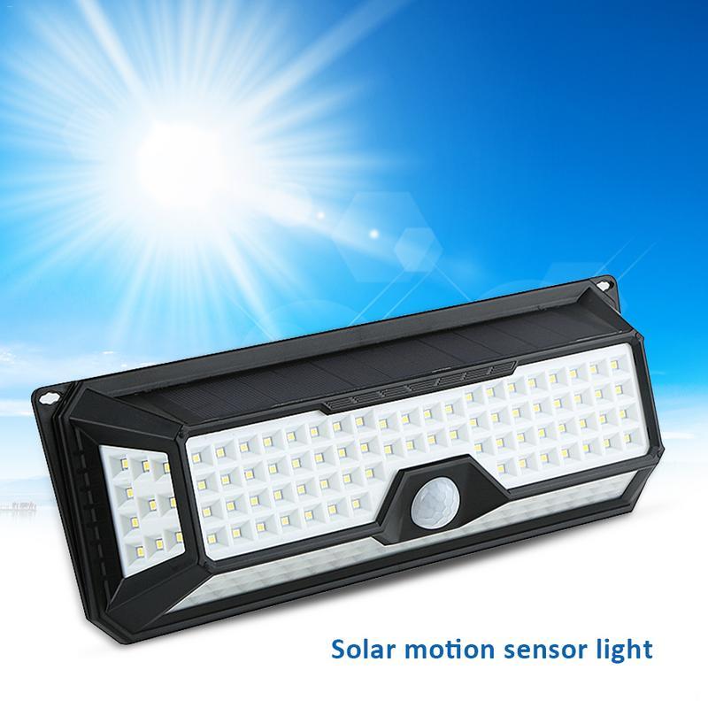 PIR Motion Sensor Solar Powered 136LED Light Waterproof Outdoor Garden Yard Lamp