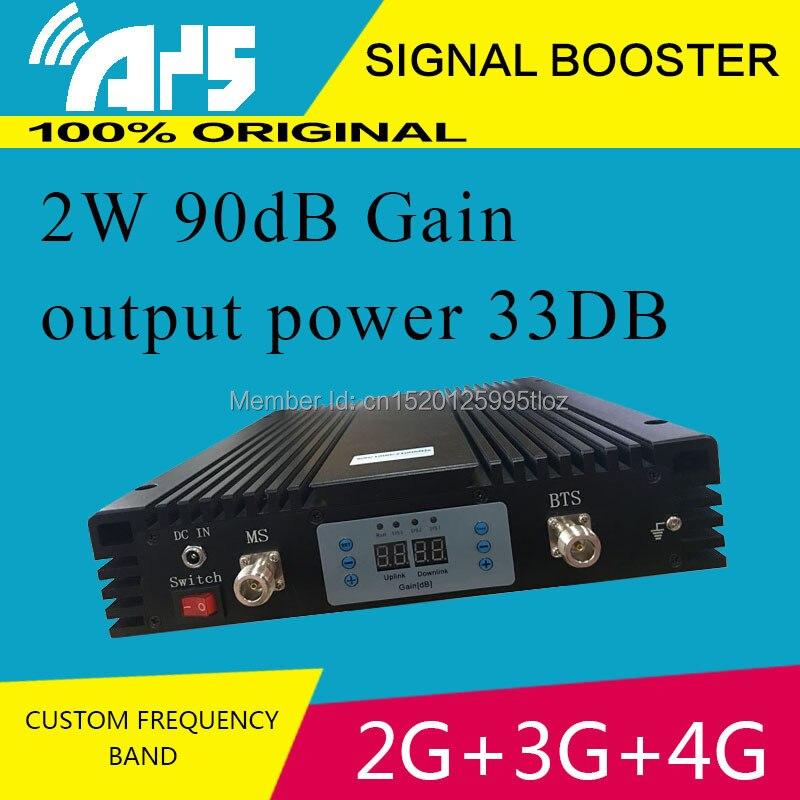 Amplificateur de signal à trois bandes à gain élevé 2G 3G 4G 90db répéteur gsm/dcs/3g à fréquence personnalisée tri/double/simple bande