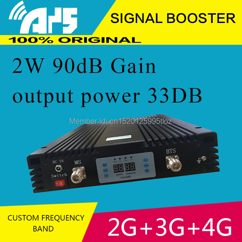 Single Host High Power High Gain 2G 3G 4G Tri Band Signal Booster 90db Repeater Gsm/dcs/3g Custom Frequency Tri/Dual/Single Band