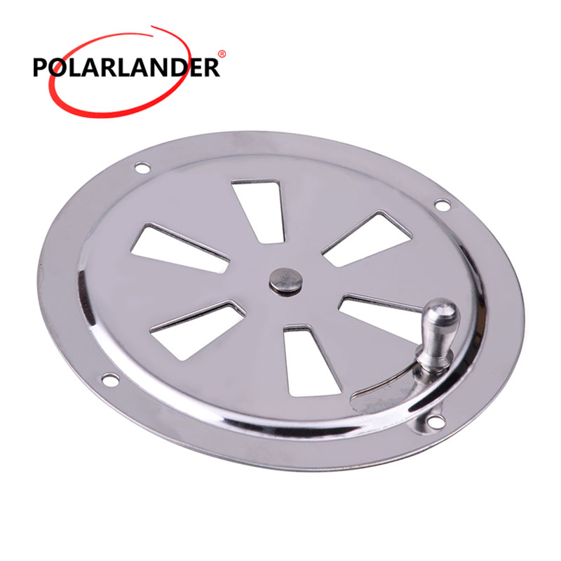 1 Piece Round Wholesale Price Silver 4 Inch Louvered Ventilator Cover Air Vent Stainless Steel 316 For RV For Boat Marine 102mm