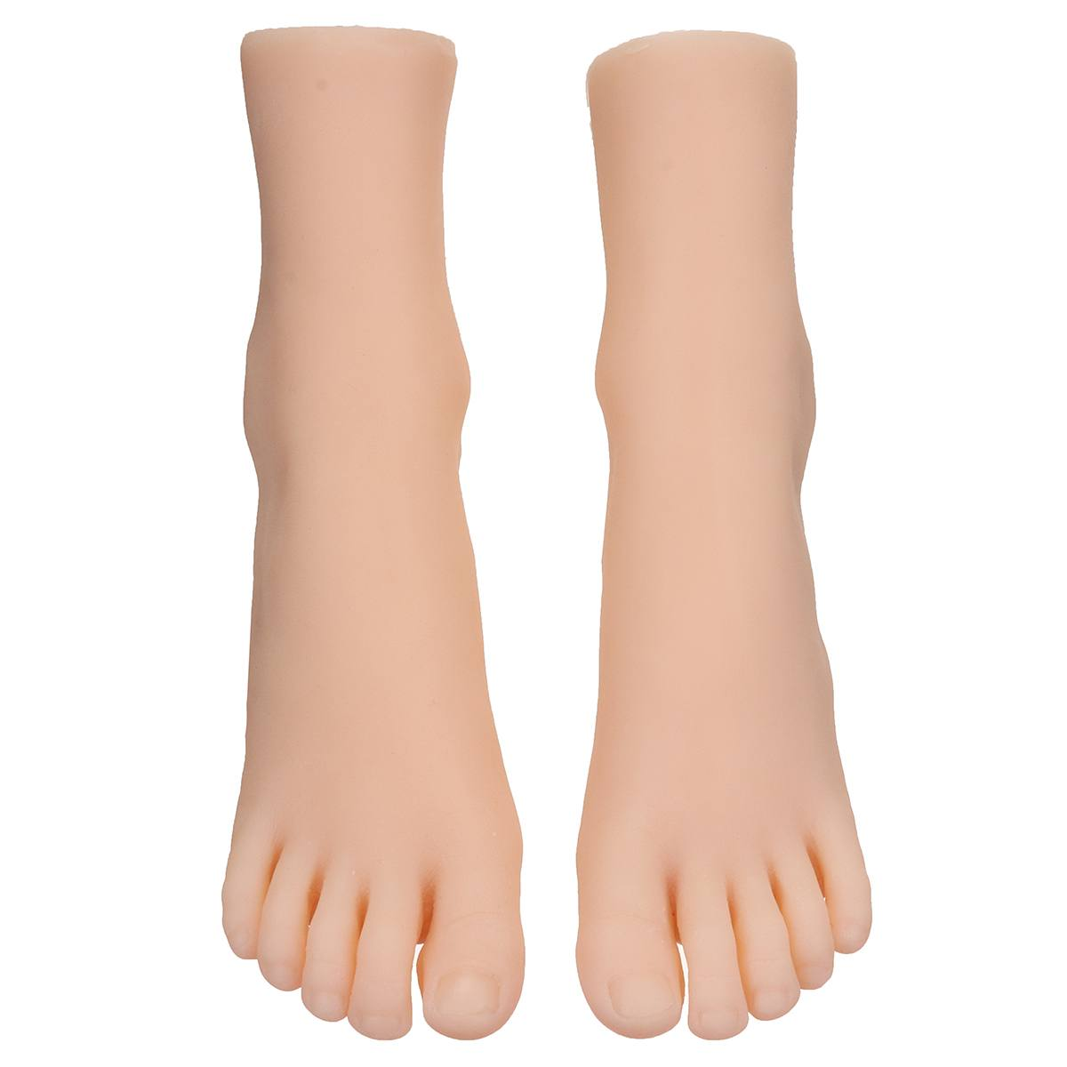 1 Pair Female Foot Sock Silicone Girl Feet Mannequin Foot Model Tools for Shoes and Socks