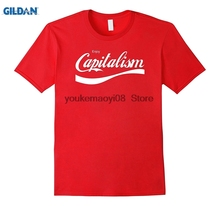 GILDAN Cotton O-neck printed T-shirt Capitalist Mega Tees  Enjoy Capitalism Funny Tee for men
