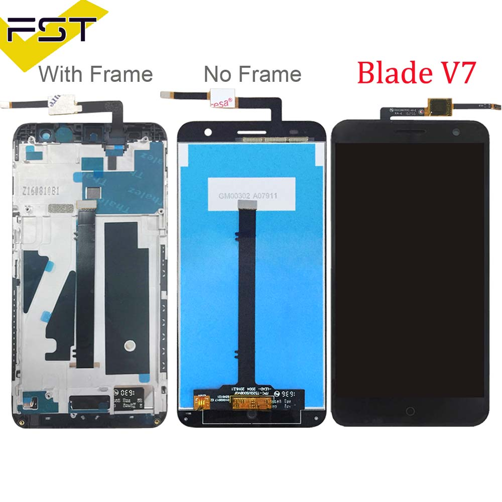 for ZTE Blade V7 Screen LCD Touch Digitizer For ZTE V7 LCD Screen for ZTE Blade V7 LCD display Assembly With Frame