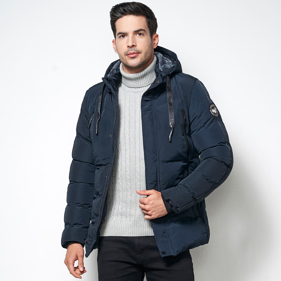 Luxury 2019 Men's Winter Warm Thick Cotton Jacket   Parkas   Men Hooded   Parka   Warm Classic Business Casual Fleece Jackets Coats Male