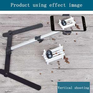 Image 5 - Fotografie Verstelbare Tafel Top Mini Monopod Set Aluminium Stand + Telefoon Clip Fill In Licht Bluetooth Controle