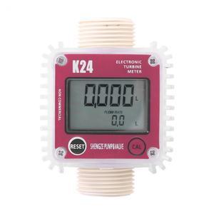 Image 1 - K24 Fuel Flow Meter Digital Diesel Oil Fuel Meter Gauge For Chemicals Liquid Water Measurment Tools Tester New 2019
