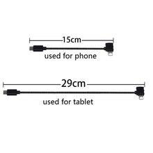 ניצוץ/Mavic מרחוק בקר נתונים מחובר כבל קו חוט כדי נייד Tablet מיקרו USB TYPE C מחבר עבור Iphone/אנדרואיד