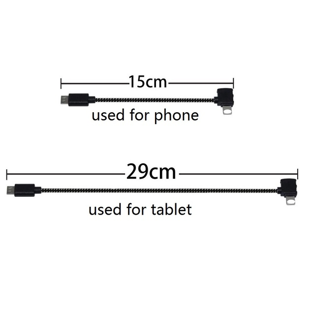 Spark/Mavic Remote Controller Data Connected Cable Line Wire To Mobile Tablet Micro USB TYPE C Connector For Iphone/Android