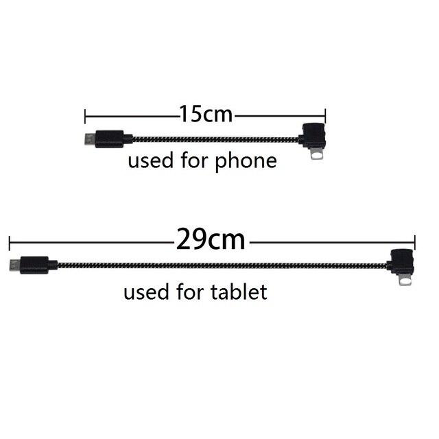 Spark/Mavic Remote Controller dane podłączony przewód kablowy do mobilnego tabletu Micro USB TYPE C złącze dla Iphone/Android