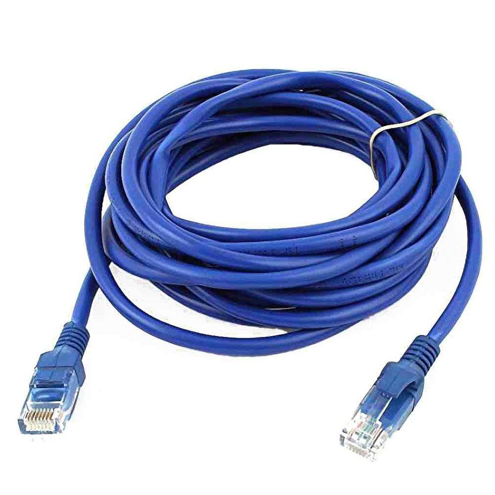 Rj45 8p8c mâle à mâle prise Cat5e Lan Ethernet câble réseau 4 m bleu