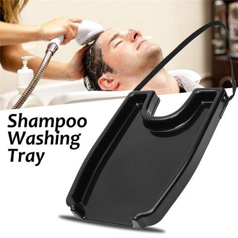 Bacia para o Paciente Salão de Beleza em Casa Cuidados com o Cabelo Pia do Cabelo Preto Portátil Shampoo Bandeja Lavagem Idosos Médica Cabeleireiro Ferramenta