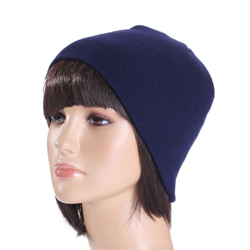 Casual Beanies For Men Women Warm Knitted Winter Hat Fashion Solid Hip-hop Beanie Hat Unisex Cap