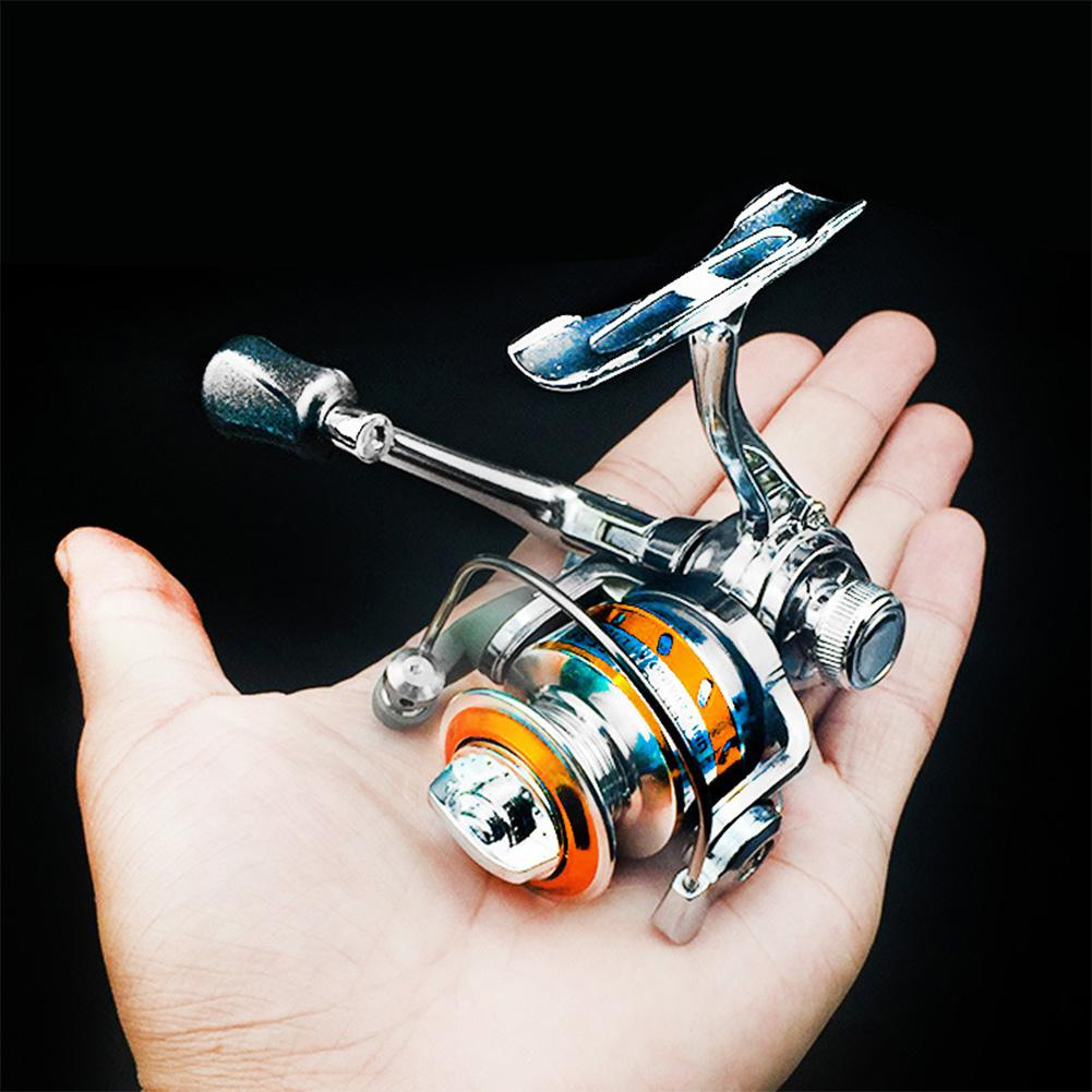Angryfish Zinc Alloy Spinning Fishing Reel Left Right Interchangeable Collapsible Handle with two Bearings