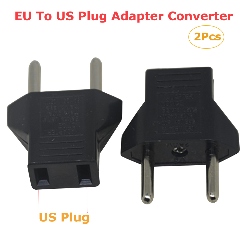 2Pcs/set <font><b>CN</b></font> US <font><b>To</b></font> <font><b>EU</b></font> Euro Europe <font><b>Plug</b></font> Adapter 2 Round Socket Converter Travel Electrical Power Adapter Socket China <font><b>To</b></font> <font><b>EU</b></font> <font><b>Plug</b></font> image