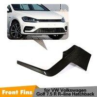 Carbon Fiber Front bumper Fins For VW Volkswagen Golf 7.5 R Line Hatchback 4 Door Fashion Style 3D Design 100% Fitment