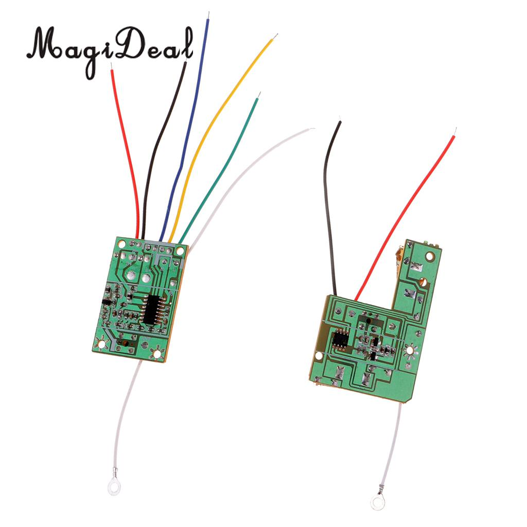 40M 2CH Remote Control Module Receiver /& Transmitter Wireless Board with Antenna for Mini DIY RC Toy Car Accessories