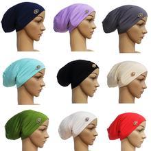 Vrouwen Tube Cap India Cap Moslim Hijab Hoofd Wrap Haaruitval Baggy Beanie Chemo Hoed Stretch Tulband Haaruitval Abaya hoofddoek Motorkap