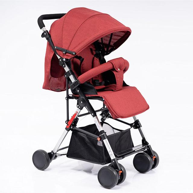 Kidlove Pull Rod Type High View Baby Trolley Shock Absorber Baby Stroller 0-3 years old high landscape children umbrella cars 5
