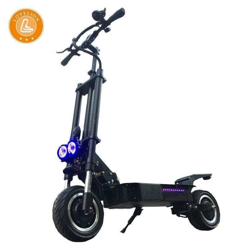 Scooter électrique pliant adulte de coup de pied de bicyclette de LOVELION avec le siège 60 V 3200 W puissance forte charge rapide scooter électrique de longboard e