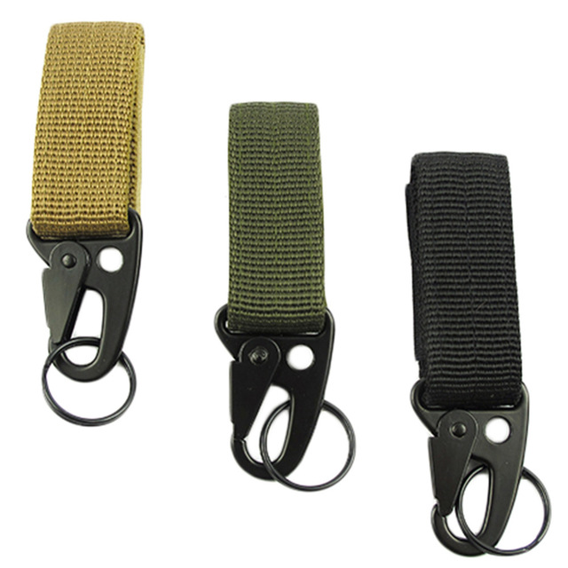 Molle Attach Belt Clip Webbing Backpack Strap Quickdraw Clasp Outdoor Carabiner Camp Water Bottle Hanger Tactical Holder Hook