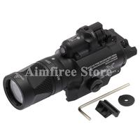 Tactical X400V Pistol Flashlight Red Laser Combo Constant Momentary Strobe Output Weapon Light Rifle Flashlight