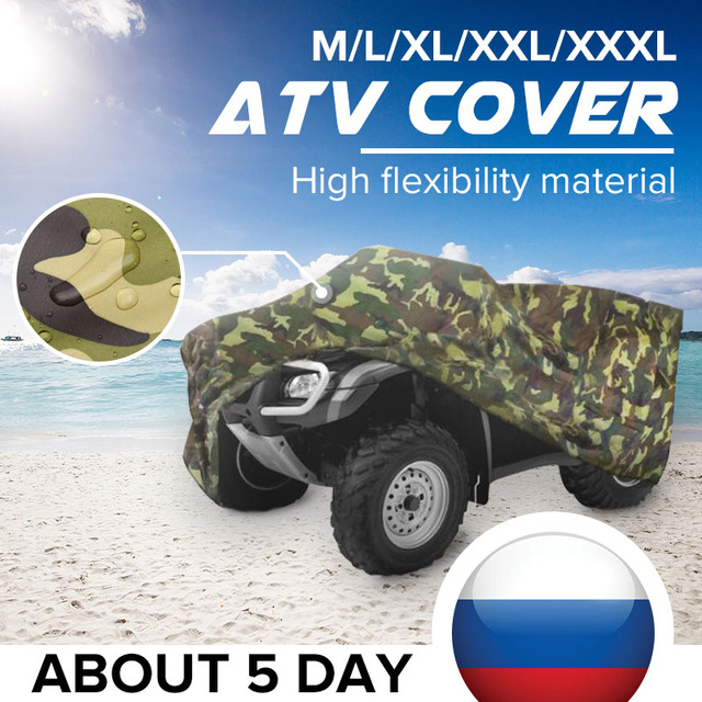 220*98*106cm Atv Car Cover Atv Rain Cover Atv Sun Cover Camouflage Silver Atv Parts & Accessories Automobiles & Motorcycles New Beach Car Cover Xxl