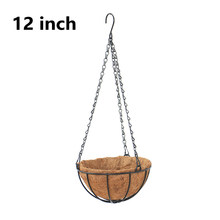 Art Plastic Flower Pot Basket Hanging Balcony Garden Plant Planter Home Decor(China)