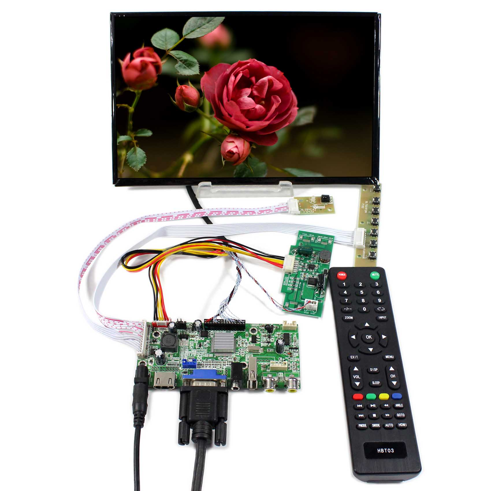 B101UAN01 Backlight WLED 10.1inch LCD Screen VGA AV HDMI  USB LCD Controller Board B101UAT02 1920X1200  ResolutionB101UAN01 Backlight WLED 10.1inch LCD Screen VGA AV HDMI  USB LCD Controller Board B101UAT02 1920X1200  Resolution