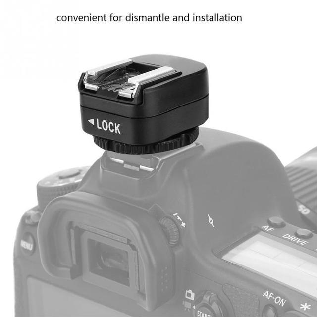 7a952e8b9d Mini Hot Shoe Adapter Converter 3.5 PC Sync Socket Flash Camera Accessories  for Sony Canon Nikon Pentax for Samsung DSLR Cameras