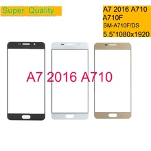 50Pcs/lot For Samsung Galaxy A7 2016 A710 A710F SM-A710F/DS Touch Screen Front Glass Panel TouchScreen Outer Glass Lens NO LCD samsung sm a710 galaxy a7 2016 black