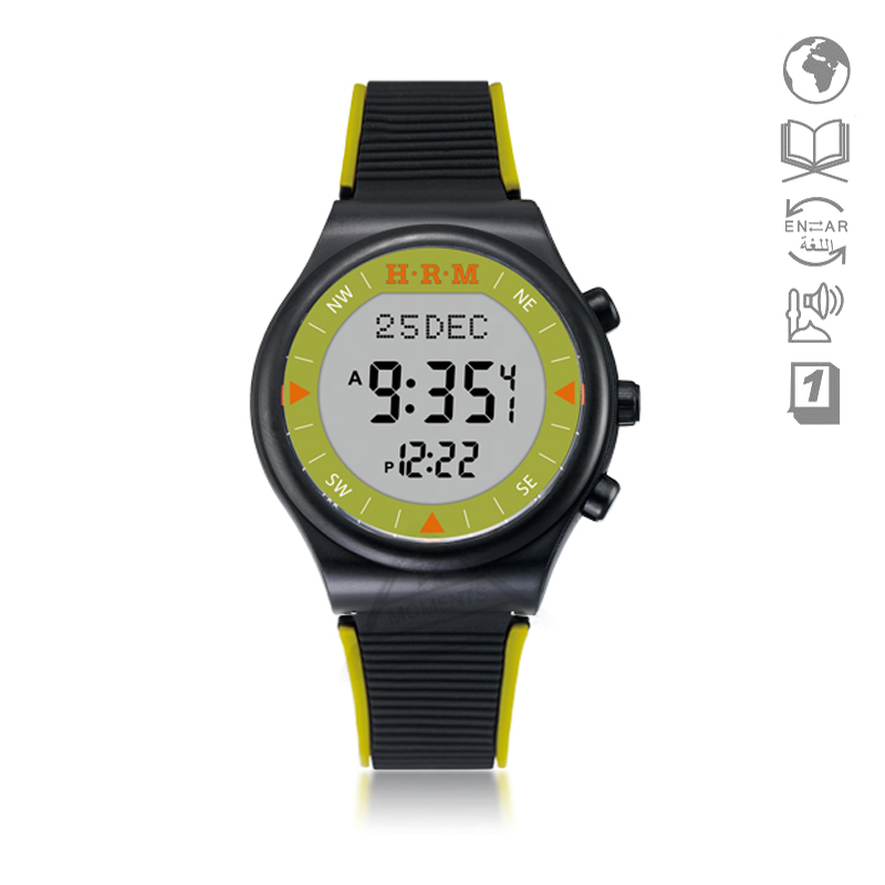 Enthusiastic New Alfajr Sport Watch For Islam 32mm 2 Tune Green Color Waterproof 6506 Mosque Watch For Muslim Prayer With Azan Time Digital Watches Watches