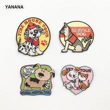 dog service Dog puppy cartoon animals Embroidered Iron on stickers DIY individual personality Clothing Collection level цена