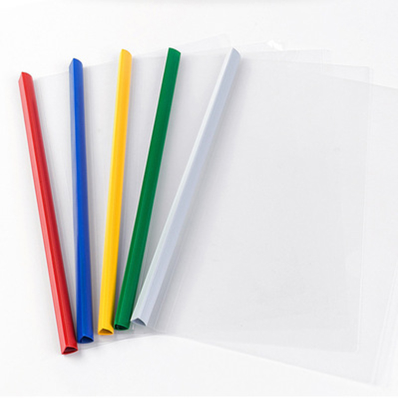 5 Piece Report Cover Spine Bar Holder File Folders A4 Sheet Protectors Plastic Folder Sheet Protectors